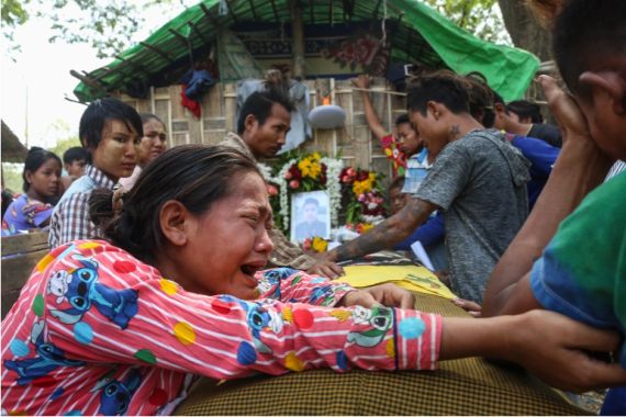 Burma's brutal crackdown causes death toll to rise to 550